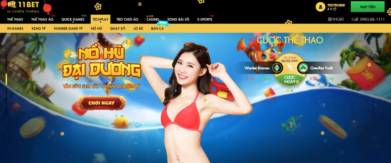 giao diện 11bet