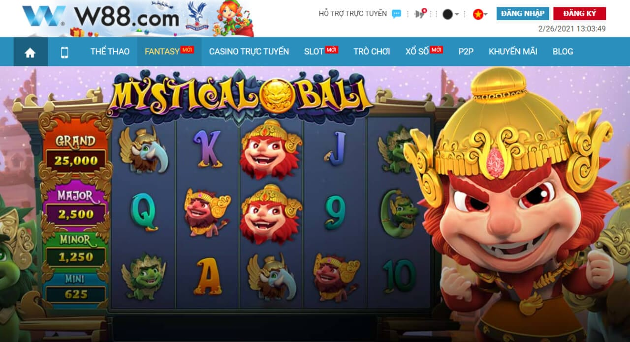 giao diện game của W88