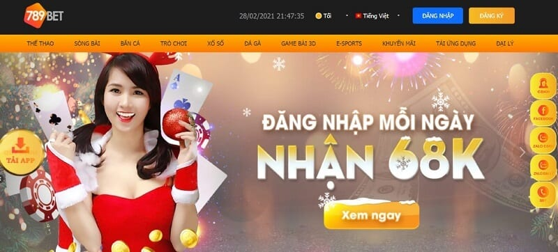 Giao diện 789bet