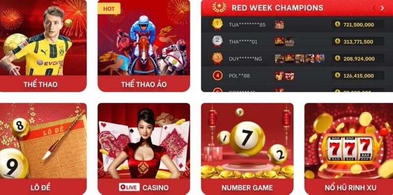 Giao diện Red88